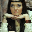 Fortune-teller with tarot cards — Stock Photo #9510406