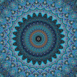 Oriental ornaments in blue tones seamless background — Lizenzfreies Foto