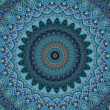 Oriental ornaments in blue tones seamless background — 图库照片