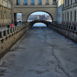 Stock Photo: St. Petersburg, ambankment of Neva, winter canal