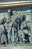Fragment of monument to the Millennium of Russia — Stock Photo