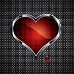 Steel heart — Stock Vector