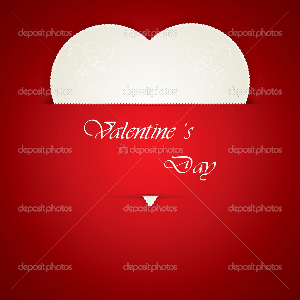 Valentines day card vector — Stock Vector #8778992
