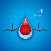 Blood donation — Stock Vector