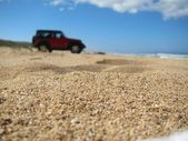 Four wheeler in the sand — Stock Photo