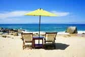 沙滩椅 — 图库照片