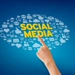 medios sociales — Foto de Stock