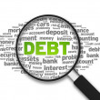 Stockfoto: Debt word cloud