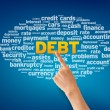 Debt Word Cloud — Stockfoto