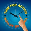 Time For Action — Stockfoto