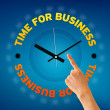 Time For Business — 图库照片