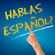 Stock Photo: Hablas Espanol