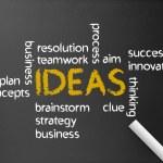 Ideas Word Illustration — Stock Photo