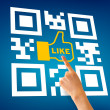 I Like QR Code — Stock Photo