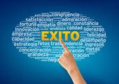 Chmura słowa exito — Zdjęcie stockowe