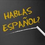 黒板 - hablas スペイン語 — ストック写真