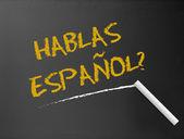 Lavagna - hablas espanol — Foto Stock