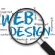 Magnifying Glass - Web Design — Stock Photo