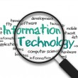 Stock Photo: Magnifying Glass - Information Technology