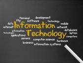 Chalkboard - Information Technology — Stock Photo