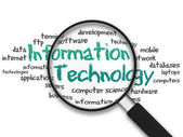 Magnifying Glass - Information Technology — Stock Photo