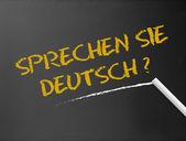Chalkboard - Sprechen Sie Deutsch? — Stock Photo