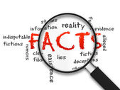 Magnifying Glass - Facts — Stock Photo