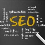 Chalkboard - Search Engine Optimization — Stock Photo