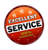 100% Excellent Service — Stock Photo