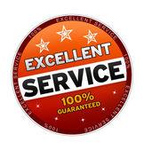 100% Excellent Service — Stock Photo