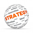 Business Strategy Sphere — Stock Photo