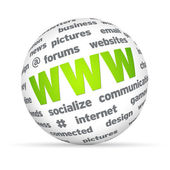 WWW Sphere — Stock Photo