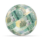 20 Canadian Dollar Sphere — Stock Photo