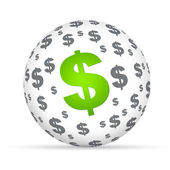 Dollar Sign Sphere — Stock Photo