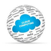 Cloud Computing Sphere — Stock Photo