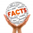 Stock Photo: Hands holding Facts Sphere