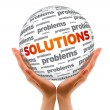 Hands holding Solutions Sphere — Stockfoto #8850939