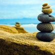 Zen Stone stacked together — Stock Photo