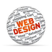 Web Design Sphere — Stock Photo