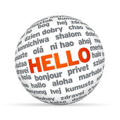 Hello in different languages — Stock Photo