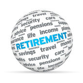 Retirement 3D Sphere — Stock Photo