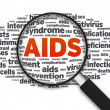 Magnifying glass - Aids — Stock Photo