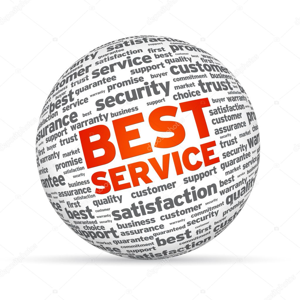 Best Service 3D Sphere on white background. — Stock Photo #9196760