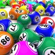 A set of colouored bingo balls — Stock Photo #9274054