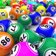 Royalty-Free Stock Photo: A set of colouored bingo balls