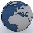 Globe showing north africa and europe — Stock Photo #9279559