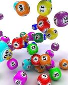 A set of colouored bingo balls — Stock Photo