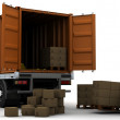 Freight container Delivery Vehicle — Stock Photo