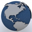 Globe showing north america region — Stock Photo #9282834