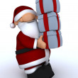 Cute Santa Claus Charicature - Stock Photo